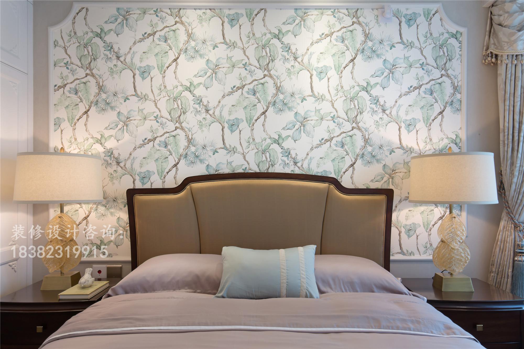 简约 三居 美式 80后 小资 卧室图片来自成都丰立装饰工程公司在孔雀蓝-神秘的色彩的分享