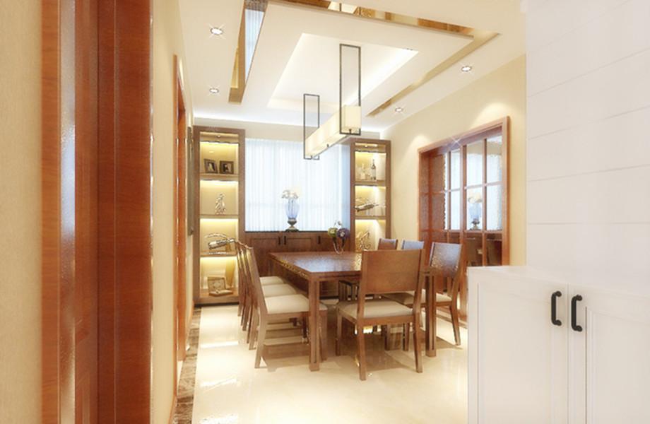 餐厅图片来自装家美在奥龙湾152平米新中式风格的分享