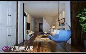 唐人中心70平LOFT现代装修效果图