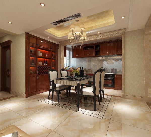 餐厅开放式厨房,空间更加通透