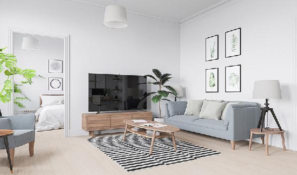 ●设计:益圆木门 ●风格:时尚欧式 ●平米:85平米 ●格局:一室一厅