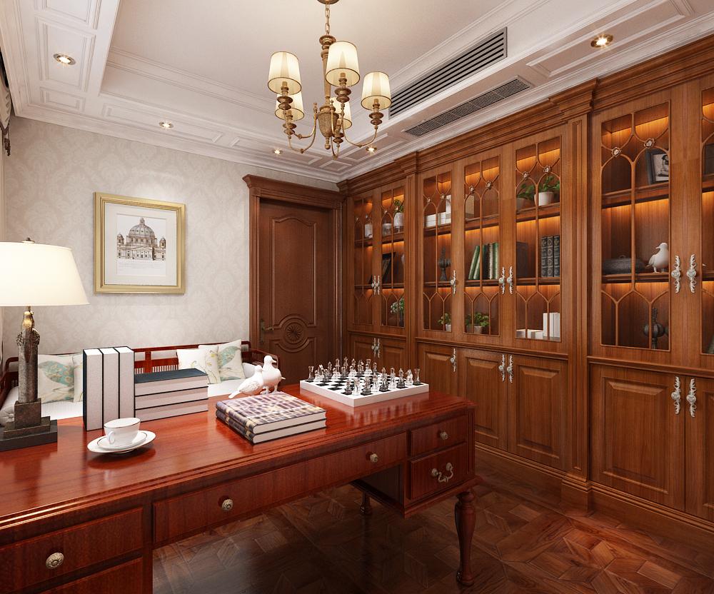 欧式 书房图片来自乐豪斯装饰马志在奥北公元三期装修效果图的分享