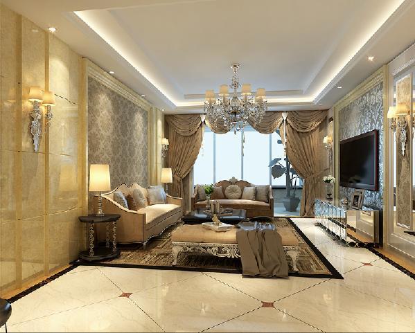 本户型的设计风格是新古典路线,以温馨色调为主,主要是充分利用空间,多增加储物。