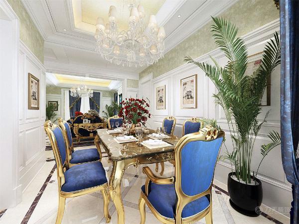 以浅色为主,深色为辅使空间变得有浓厚的欧式风味同时也显得清新,餐厅的设计同样如此。