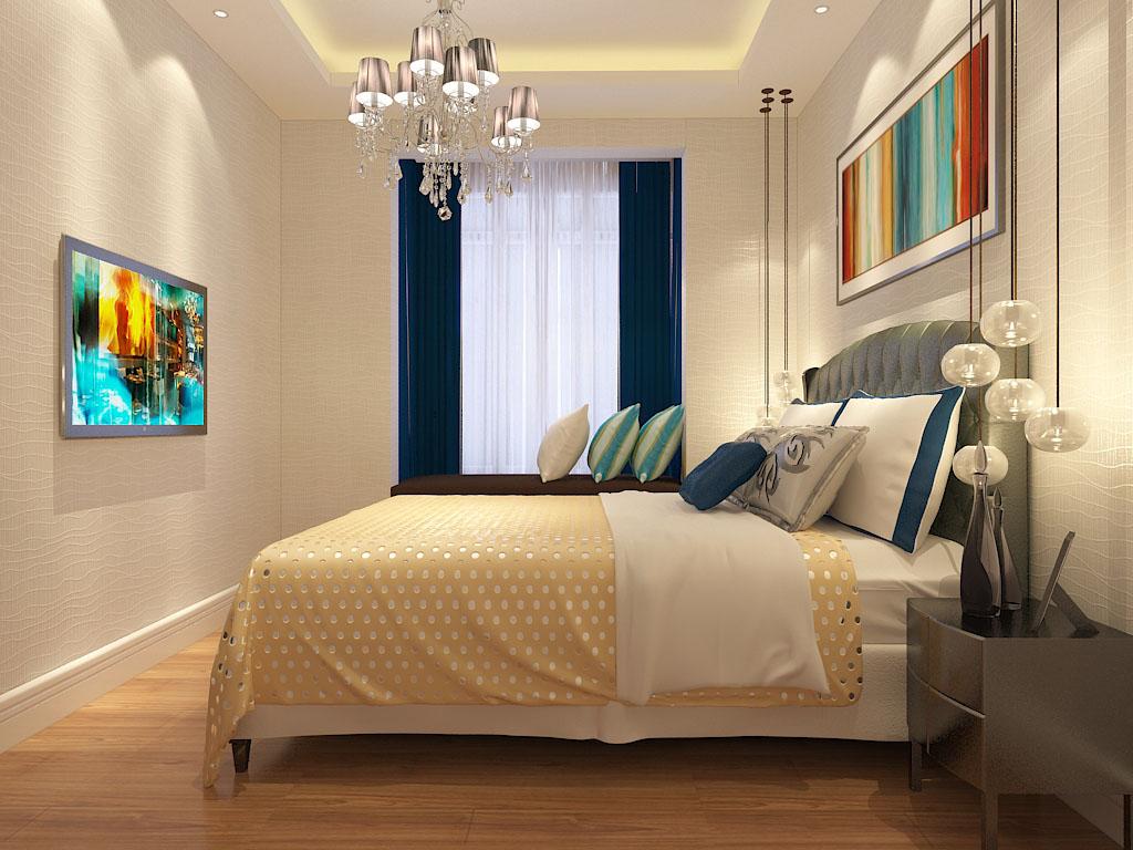 简约 二居 卧室图片来自石家庄阳光力天装饰在润德天悦城-75㎡-简约的分享