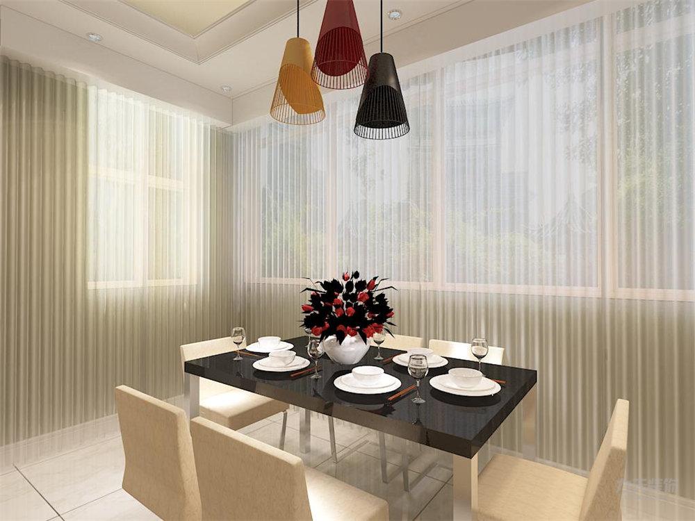餐厅图片来自石家庄阳光力天装饰在瑞府-80㎡-现代简约的分享