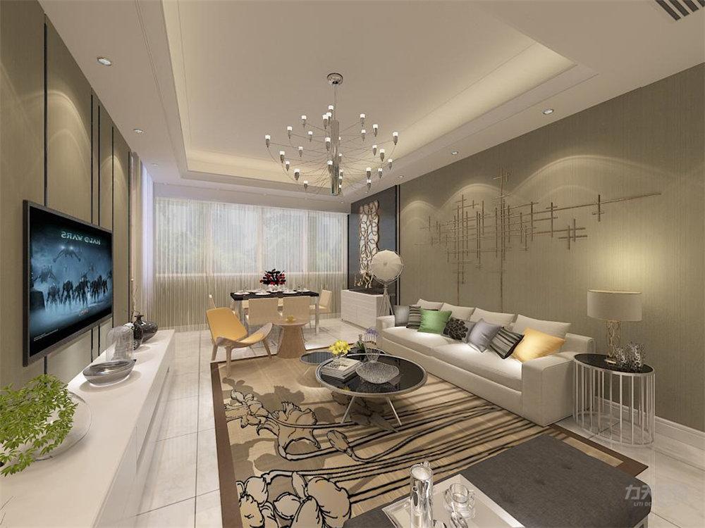 客厅图片来自石家庄阳光力天装饰在瑞府-80㎡-现代简约的分享
