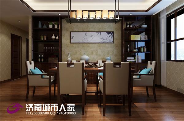 中式 餐厅图片来自济南城市人家装修公司-在东方天澍190平中式装修效果图的分享