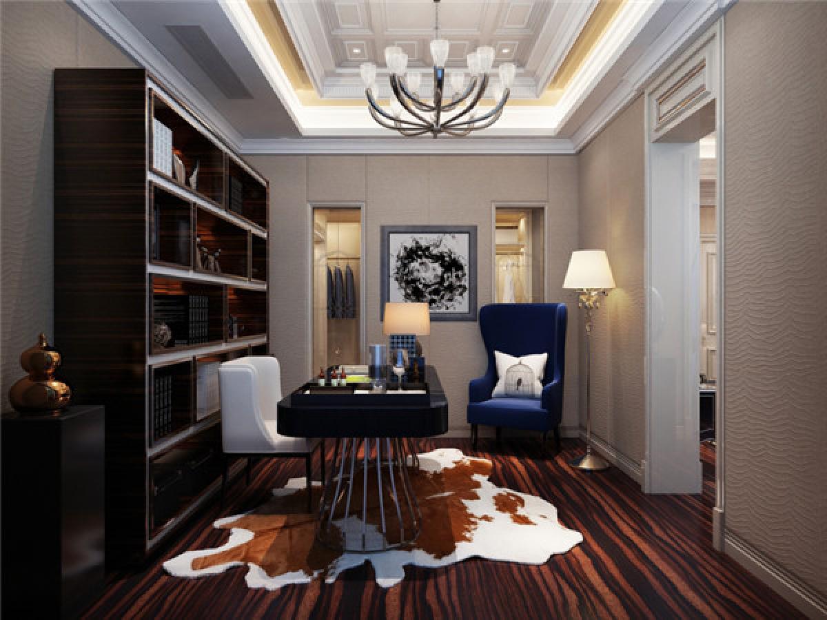 书房图片来自日升装饰秋红在曲江公馆和园欧式古典风格的分享
