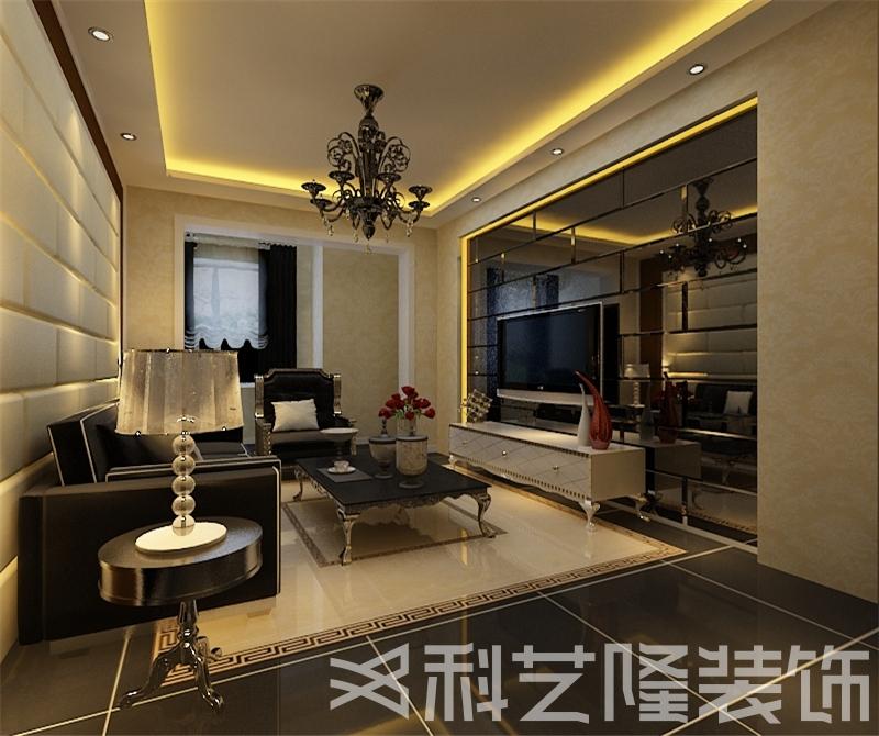 客厅图片来自天津科艺隆装饰在人才公寓—现代简约—74.88㎡的分享