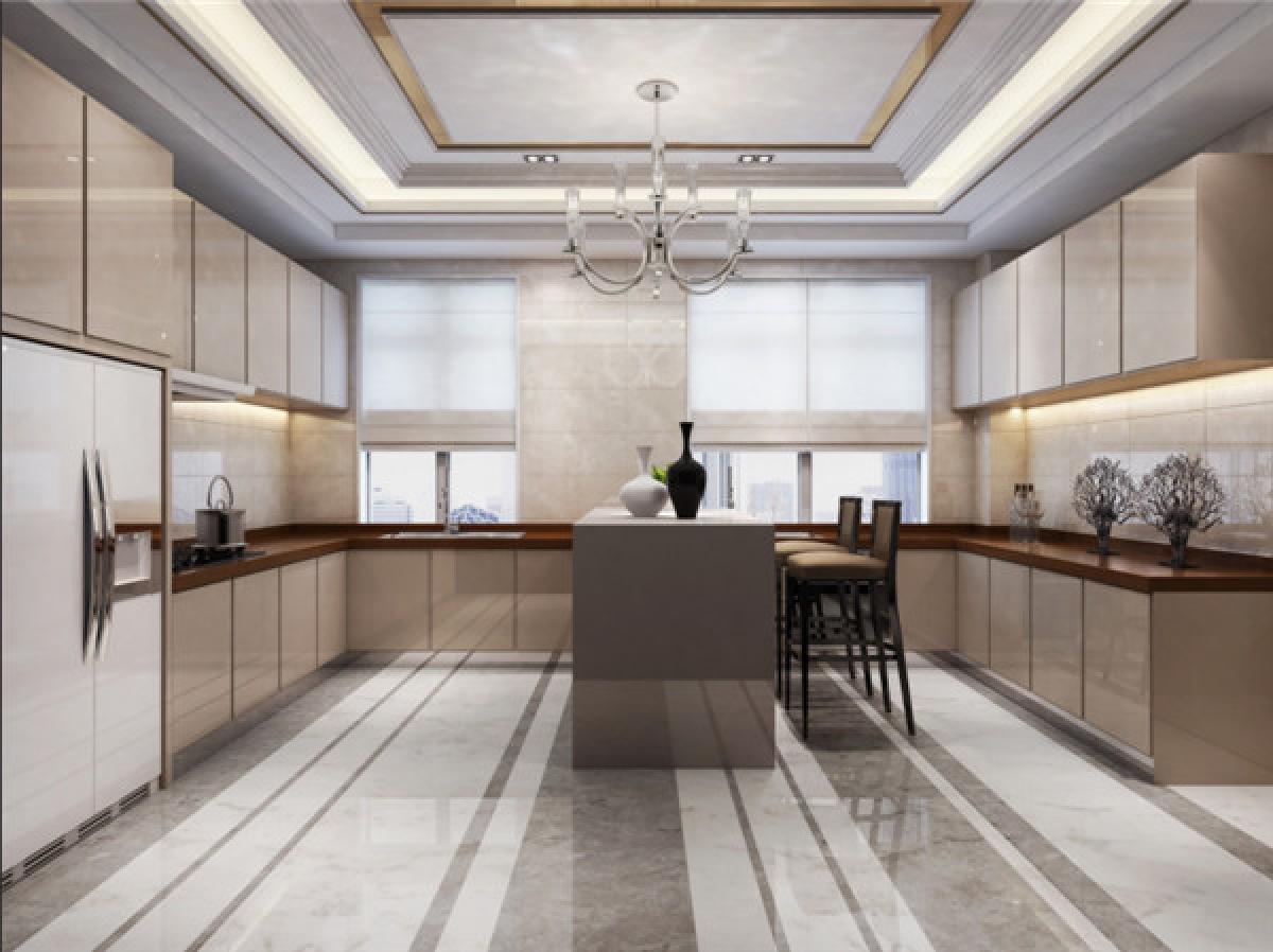 厨房图片来自日升装饰秋红在曲江公馆和园欧式古典风格的分享