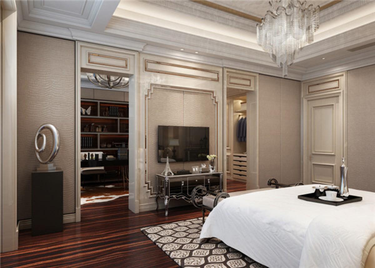 卧室图片来自日升装饰秋红在曲江公馆和园欧式古典风格的分享