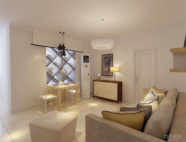 家里的过道是直着过去就是家里的客厅所以一定要有亮点,这样一进门才不会觉得平淡无奇。