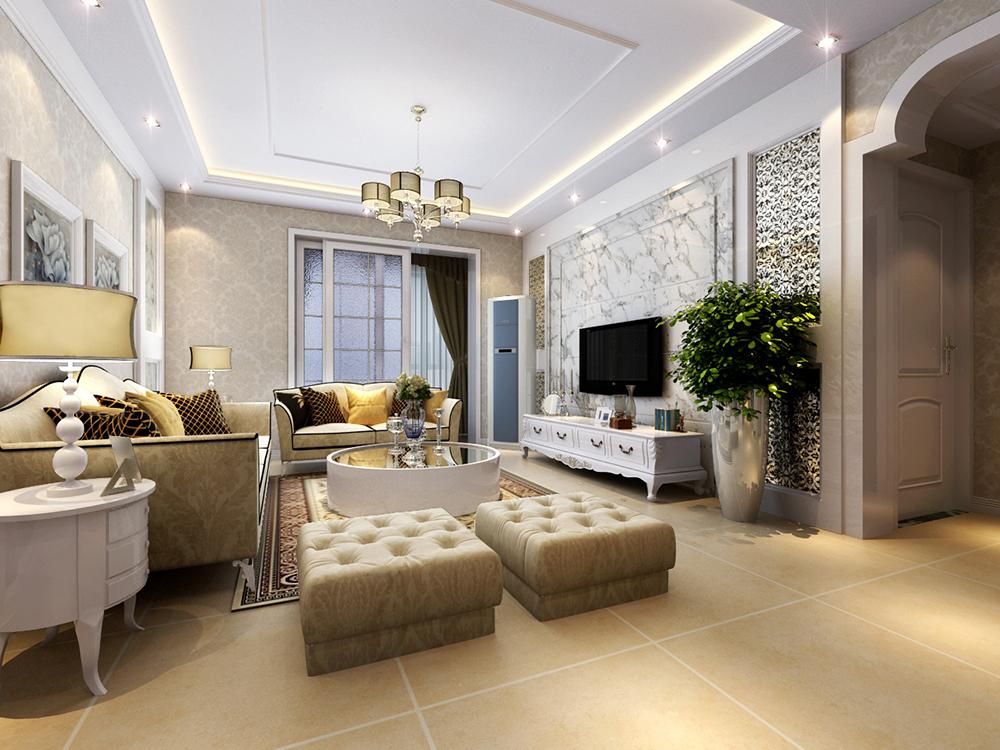 欧式 简约 二居 客厅图片来自tjsczs88在温馨清雅,简约欧式的分享