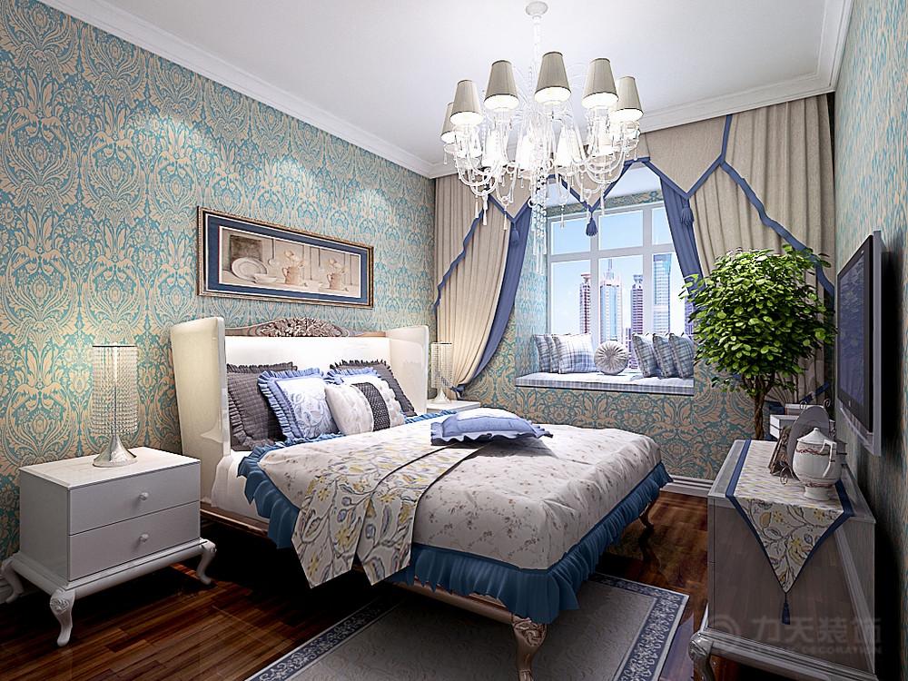 卧室图片来自阳光力天装饰在欧式风格  百合春天  100㎡的分享
