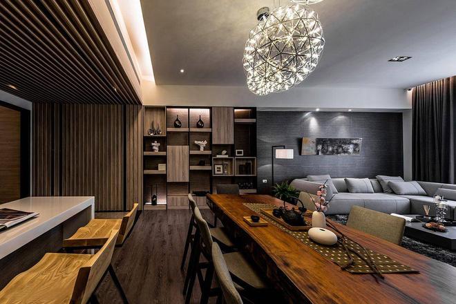 鲁能7號 别墅 简约 餐厅图片来自别墅设计师杨洋在现代简约生活-鲁能7號别墅的分享