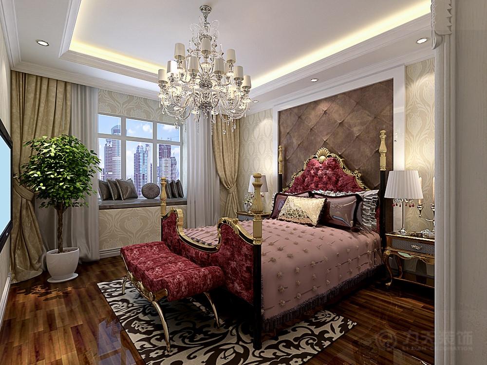 欧式 卧室图片来自阳光力天装饰在欧式风格  百合春天  100㎡的分享