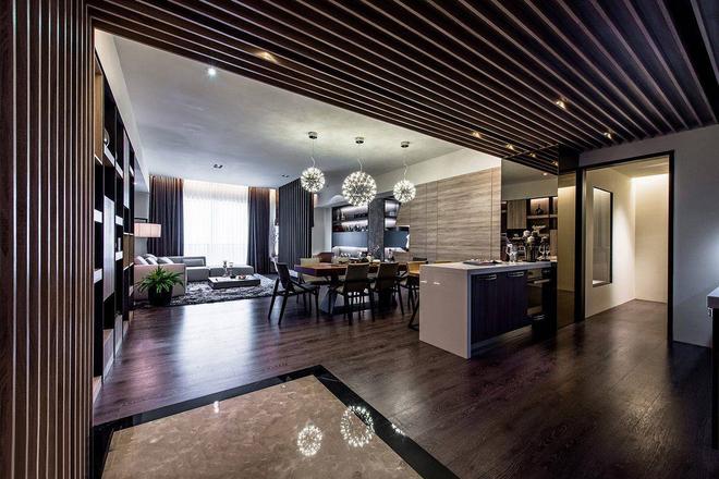 鲁能7號 别墅 简约 客厅图片来自别墅设计师杨洋在现代简约生活-鲁能7號别墅的分享