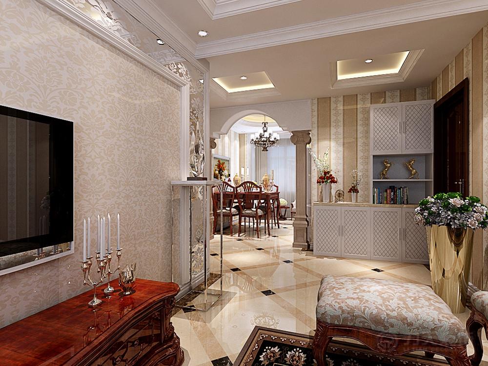 客厅图片来自阳光力天装饰在欧式风格  百合春天  100㎡的分享
