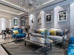 新古典 二居 白领 客厅图片来自青岛业之峰官方客服--小万在映月公馆珑台 97平 新古典风格的分享