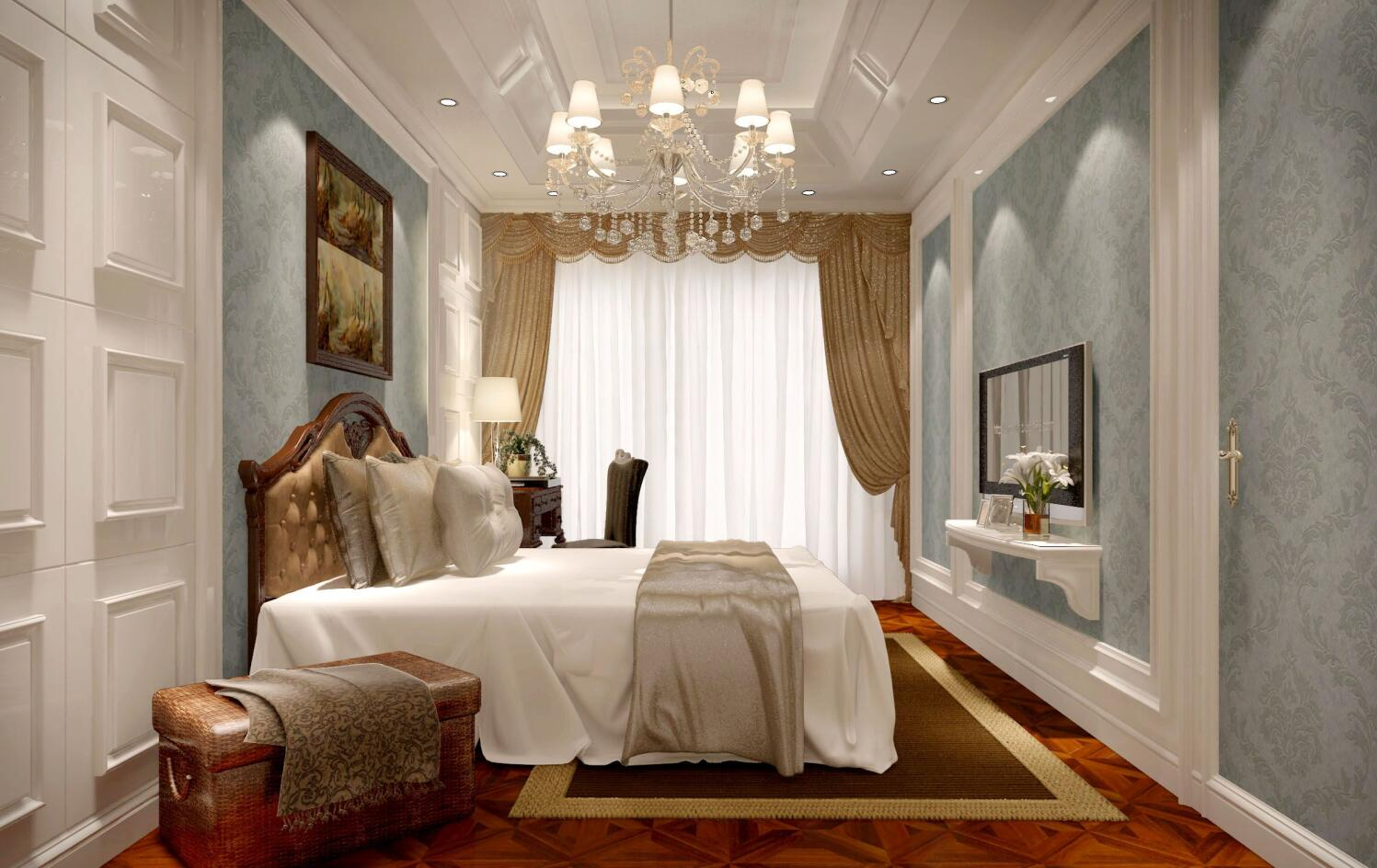 祥生御江湾 装修设计 欧式风格 腾龙设计 劳纳作品 卧室图片来自室内设计师劳纳在祥生御江湾大宅欧式风格的分享