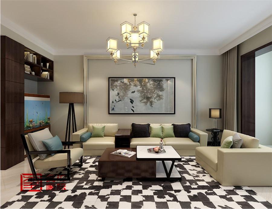 三居 玺汇国际 现代 客厅图片来自河北玺汇国际装饰公司在135平卓达明郡现代风格的分享