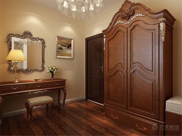 客餐厅地面采用浅咖色800*800地砖正铺,墙面使用浅黄色乳胶漆,即不显过度奢华,又不乏低调时尚而且更显温馨。