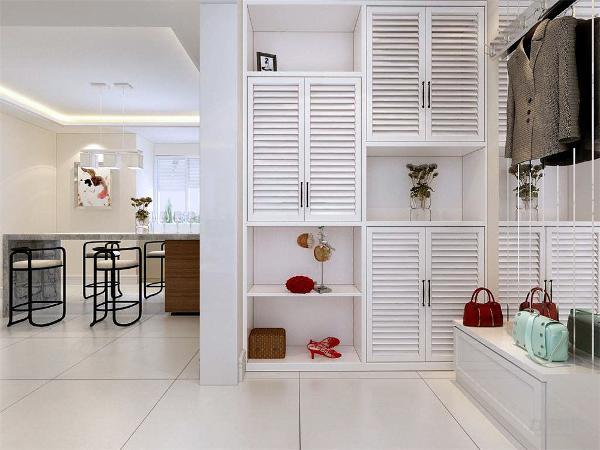 家具主要以浅色为主,诠释现代感。装饰主要采用硬朗简洁的装饰,空间具有层次感符合现代人追求的时尚感,实用性。