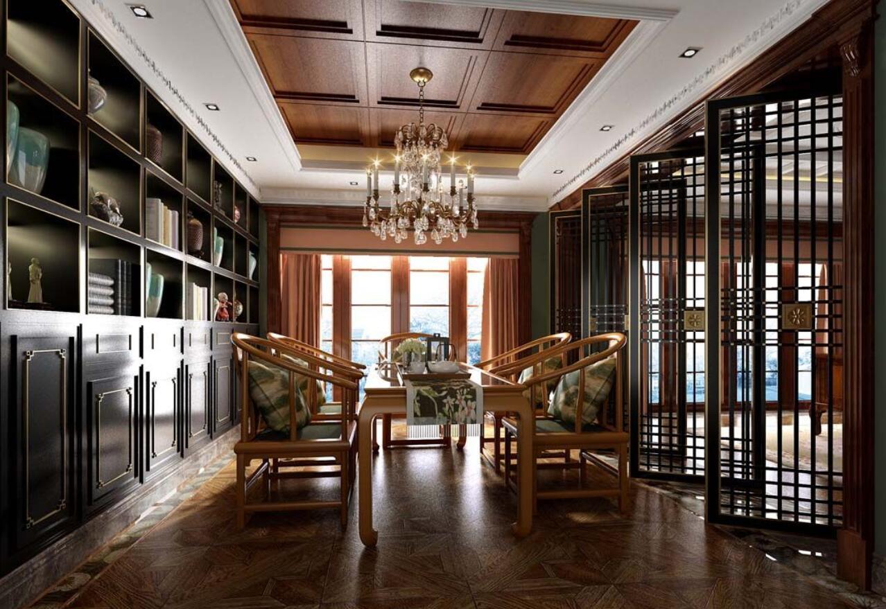 别墅装修 欧式古典 腾龙设计 劳纳作品 书房图片来自室内设计师劳纳在鑫湖坊400平别墅新古典欧式的分享