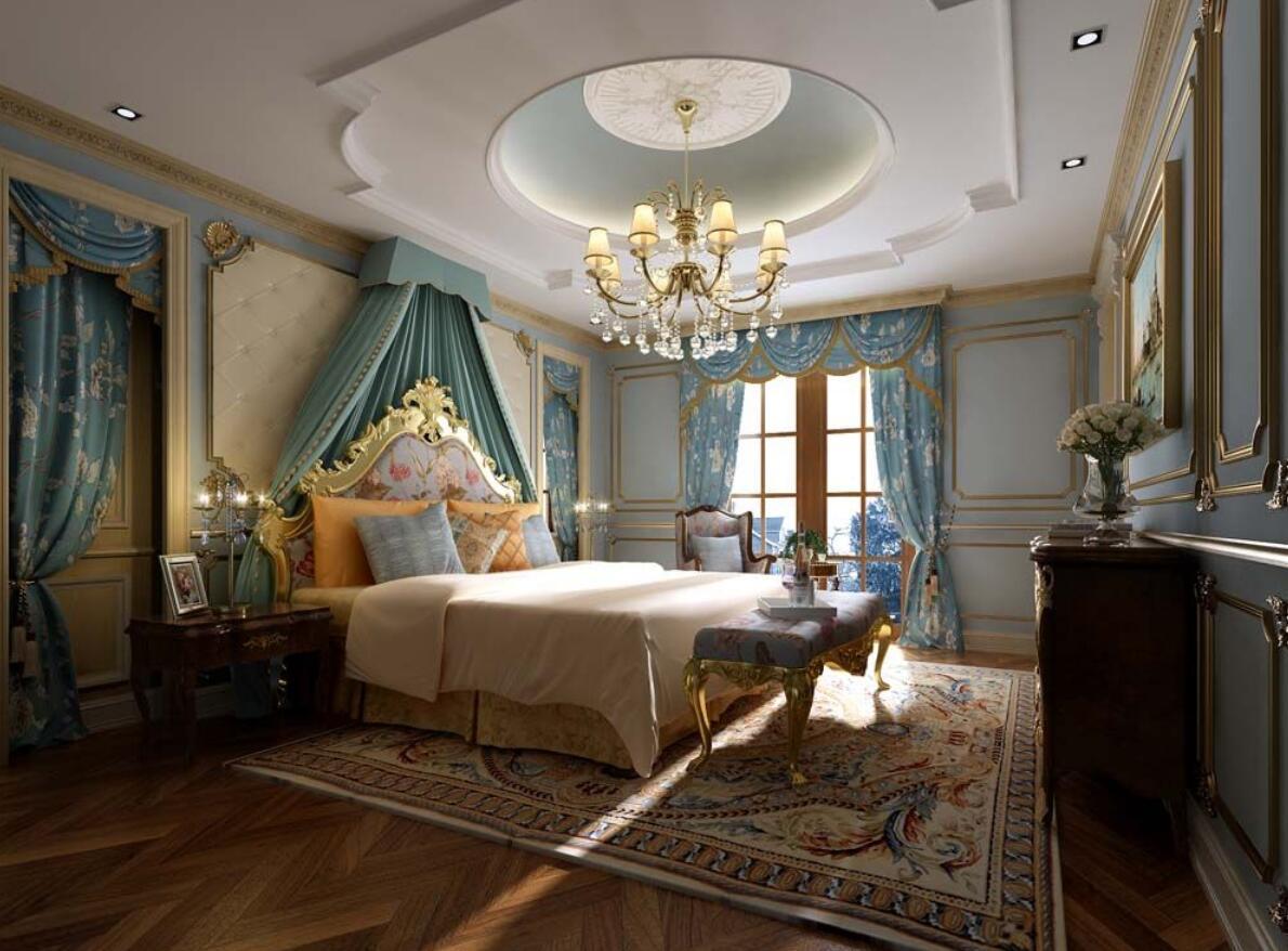别墅装修 欧式古典 腾龙设计 劳纳作品 卧室图片来自室内设计师劳纳在鑫湖坊400平别墅新古典欧式的分享