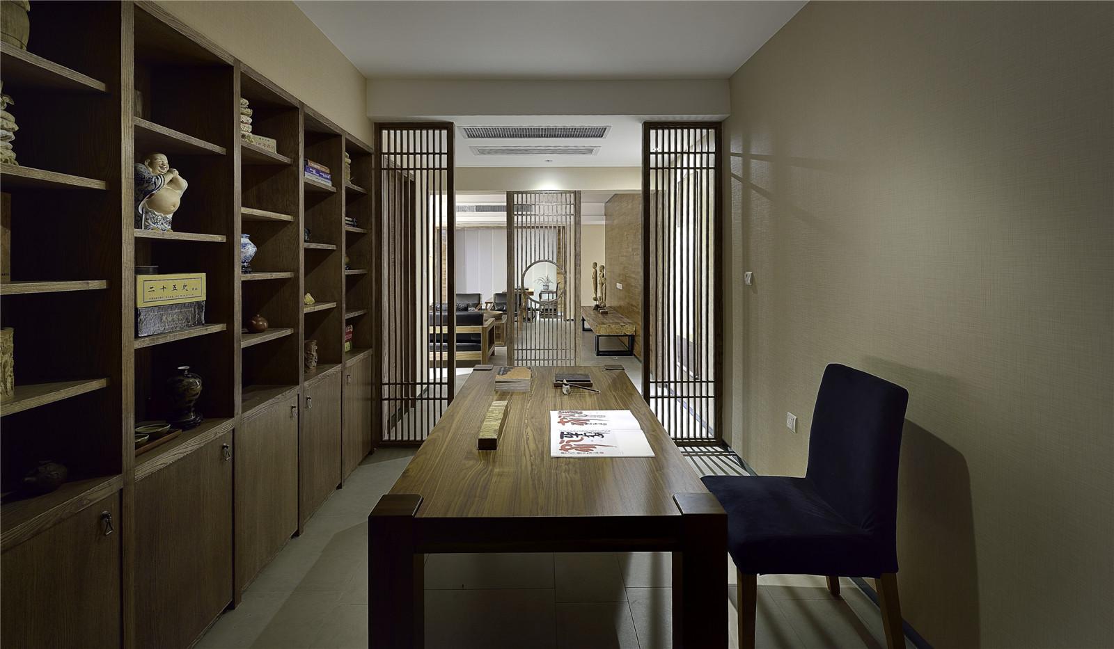二居 旧房改造 新中式风格 北京装修 装修效果图 书房图片来自爱尚易格装饰在爱尚易格海淀区惠普南里的分享
