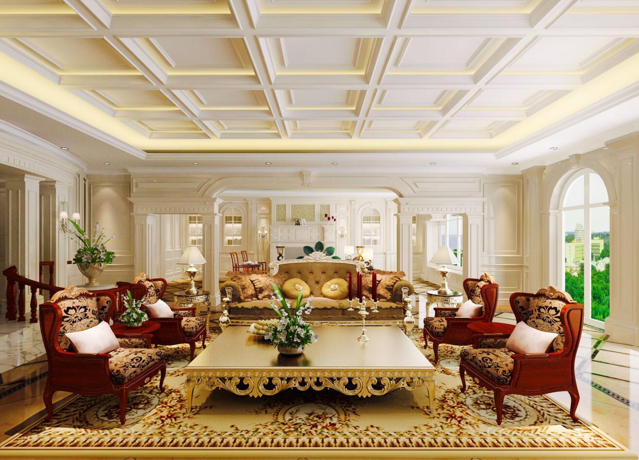 祥生御江湾 装修设计 欧式风格 腾龙设计 劳纳作品 客厅图片来自室内设计师劳纳在祥生御江湾大宅欧式风格的分享