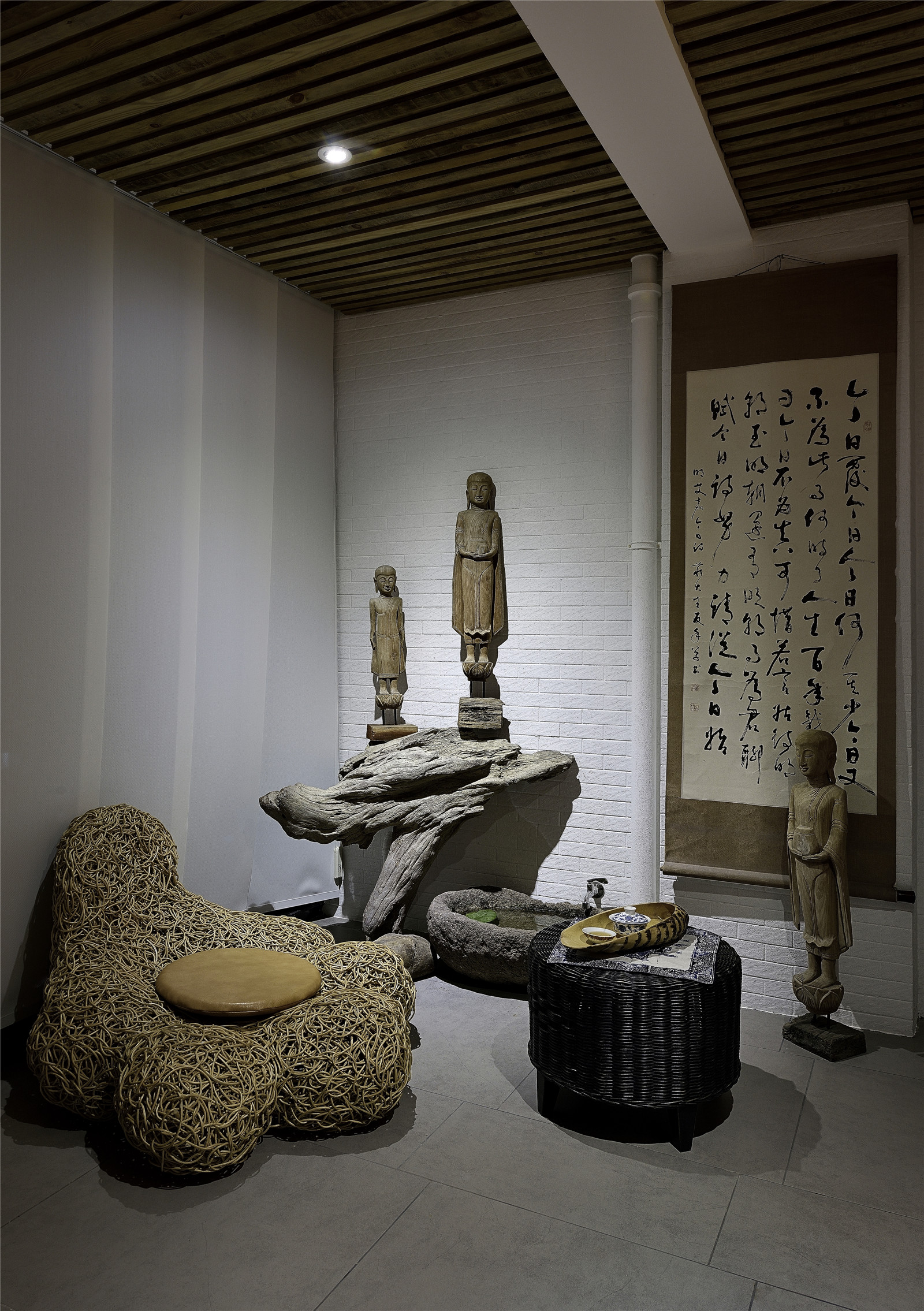 二居 旧房改造 新中式风格 北京装修 装修效果图 客厅图片来自爱尚易格装饰在爱尚易格海淀区惠普南里的分享