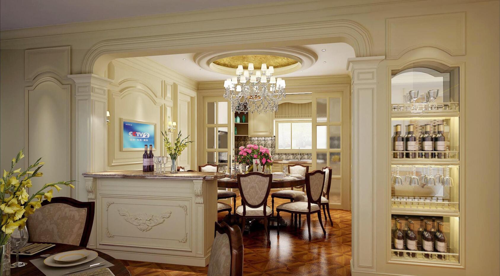 祥生御江湾 装修设计 欧式风格 腾龙设计 劳纳作品 餐厅图片来自室内设计师劳纳在祥生御江湾大宅欧式风格的分享