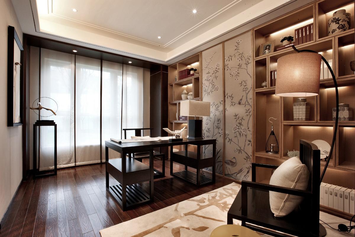 三居 新中式风格 旧房改造 爱尚易格 装饰装修 书房图片来自爱尚易格装饰在爱尚易格新中式风格装修设计的分享