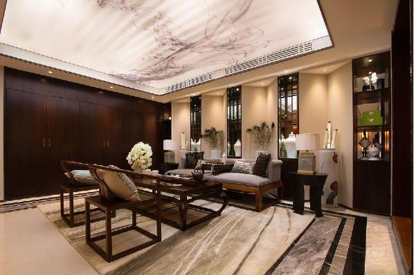 别墅装修中式风格设计方案展示,上海腾龙别墅设计