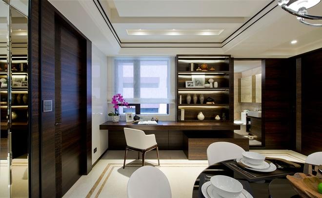 三居 中式风格 收纳 旧房改造 80后 书房图片来自爱尚易格装饰在新中式设计装修的分享