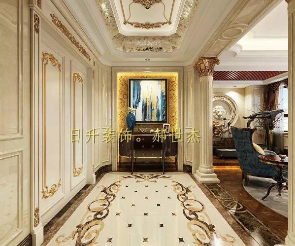 二层将露台搭建,划分为会客厅和书房,会客厅建喷泉水景提高雅致生活。过厅的边角弧形设计更具欧式的曲线感。同时二楼的主卧带有衣帽间,为客户打造完美的、有品质的私密生活空间。