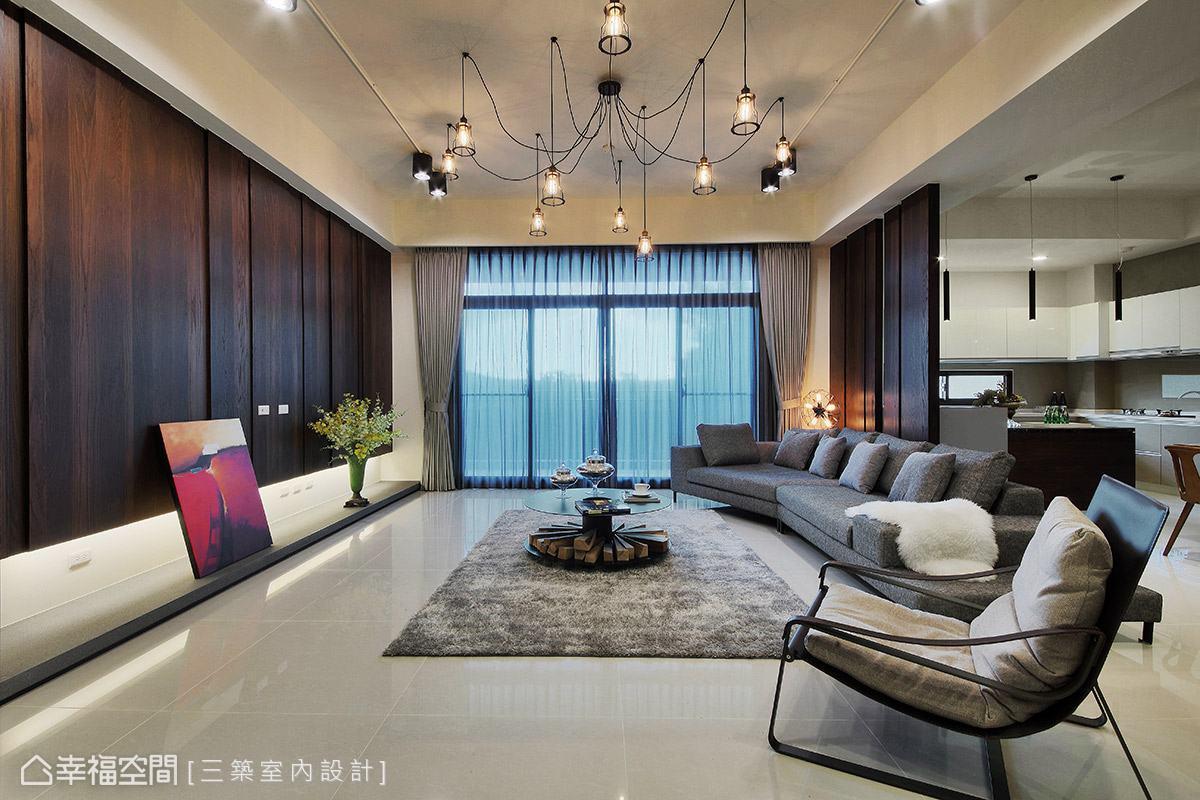 别墅 工业 现代 收纳 客厅图片来自幸福空间在年轻不失沉稳 现代轻工业风别墅的分享