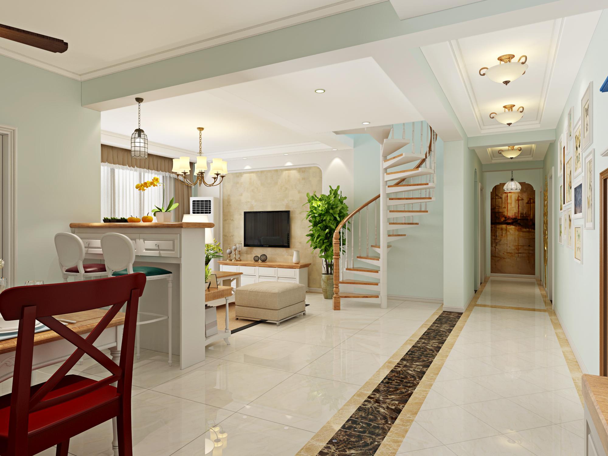 中豪汇景湾 简约美式风 实创装饰 装修设计 客厅图片来自夏曼在实创装修中豪汇景湾简约美式风格的分享