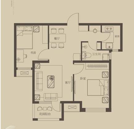 二居 客厅 卧室 白领 80后 小资图片来自北京华庭装饰设计在荣盛白鹭岛清芦屿78.6平设计方案的分享