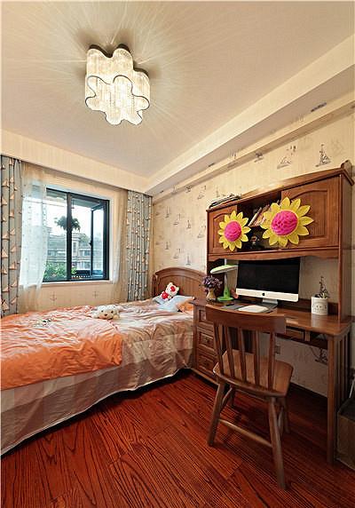 儿童房图片来自家装大管家在清新淡雅 123平现代简约混搭3居的分享