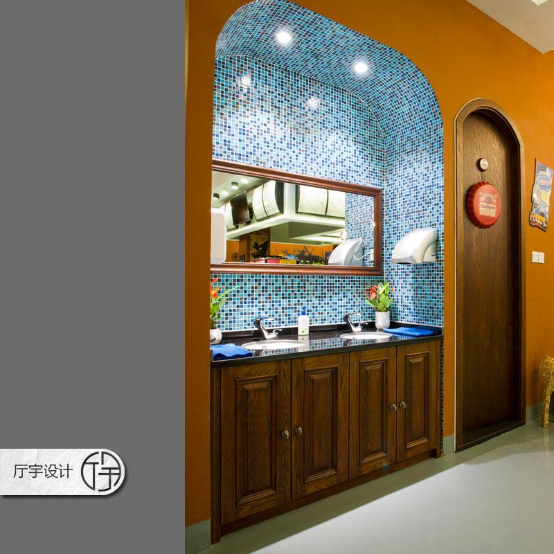80后 白领 田园 欧式 简约 旧房改造 卫生间图片来自厅宇设计在创意咖啡店—白领休闲的分享