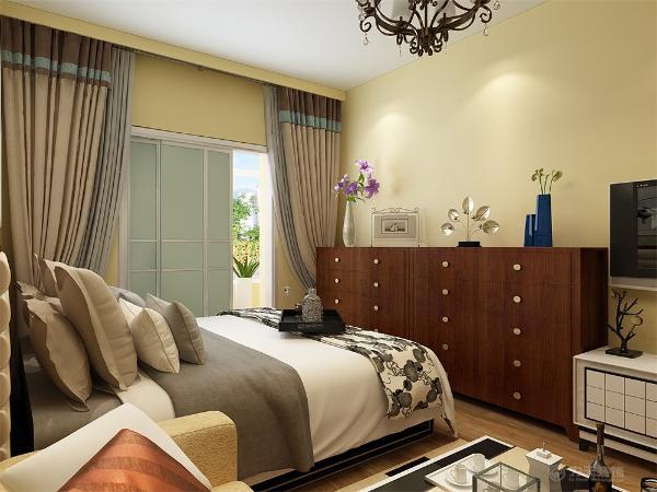 次卧室床头贴壁纸,放单人床,放有电脑桌,电脑桌上放,放有堂板,有利于业主放书以及装饰品。