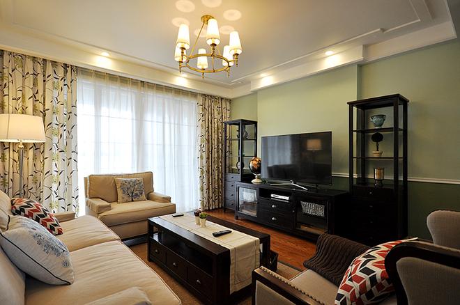 客厅图片来自武汉苹果装饰在卧龙墨水湖边的分享