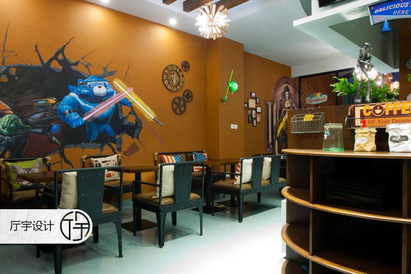 80后 白领 田园 欧式 简约 旧房改造 客厅图片来自厅宇设计在创意咖啡店—白领休闲的分享