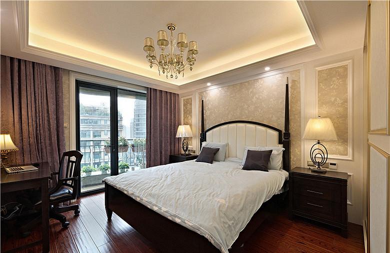 卧室图片来自家装大管家在清新淡雅 123平现代简约混搭3居的分享