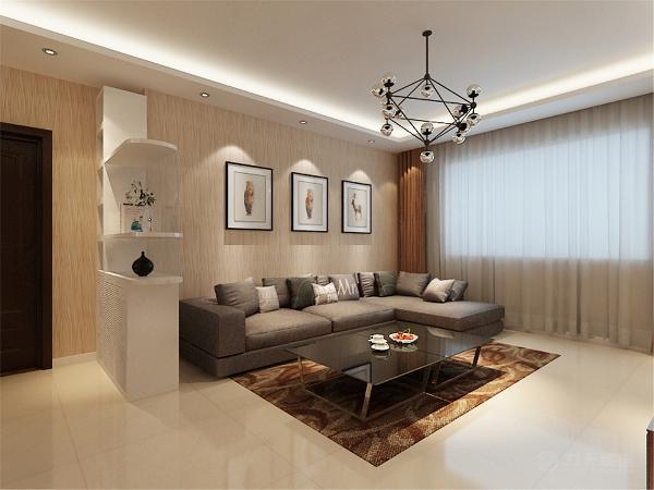 首先有一些空间需要改造,在入户处设计一个玄关柜以保证客厅足够的私密性。