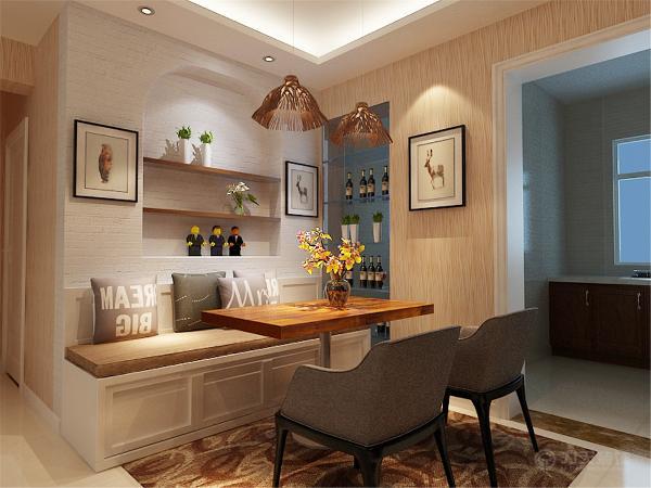 厨房的空间比较小所以将冰箱的位置移到餐厅,这样厨房的尺度更为舒适。