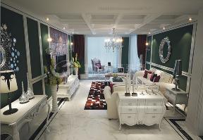 新古典 三居 西安装修 浐灞半岛 白领 客厅图片来自西安城市人家装饰王凯在新古典主义优雅三居的分享